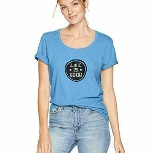 Life is Good Womens T-Shirt Life is Good Stamp